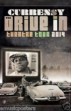 "CURREN$Y ""DRIVE IN THEATRE TOUR 2014"" CONCERT  POSTER - Currency, Hip Hop Music"