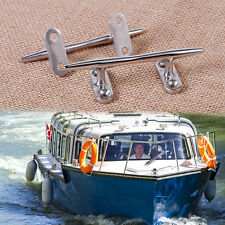 "4"" 2pcs Stainless Steel Dock Deck Line Rope Boat Yacht Marine Cleat Tie Hardware"