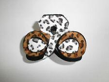 Pince Crabe Style Cuir Léopard 8 cm Couleur blanc marron P0036E