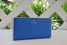 NWT Kate Spade Wallet Cobble Hill Stacy in Alice Blue/ Cement