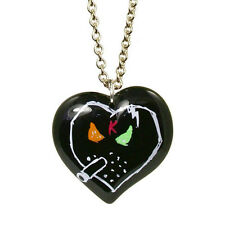"NEW Tarina Tarantino X KidRobot Black ""I LOVE SMORKING"" Heart Necklace -SALE"