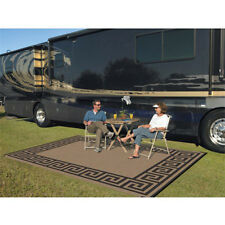 Patio Mat Indoor Outdoor 9'x12' Reversible Deck Rug Washable RV Picnic Carpet