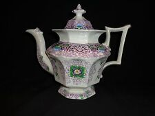 "Antique Staffordshire ""Zamara"" Pattern Lidded Teapot, 1845-1858, Francis Morley"