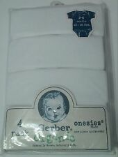 Gerber Organic 4 Pack Baby Onesies. Unisex. White. 3-6 Months. Natural.