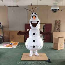 Adult Frozen Olaf Mascot Costume Snowman Christmas Party Clothing Fancy Dress