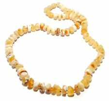Genuine Baltic Amber Necklace for Adult Butter 50 cm