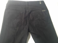 EUC - As New - RRP $349 - Womens Stunning 7 For All Mankind Black Stretch Jeans