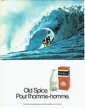 PUBLICITE ADVERTISING 0217  1982  Old Spice  eau de toilette homme  surf