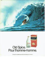 PUBLICITE ADVERTISING 0217  1982  Old Spice  eau de toilette homme  surf