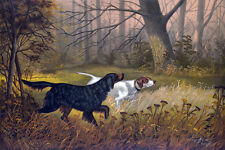 "perfact 36x24 famous oil painting handpainted on canvas""hunting dogs""N3694"