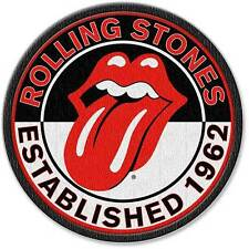 Rolling Stones Estb. 1962 round iron on/sew on cloth patch.Licensed product (ro)