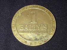 "$1 SLOT GAMING TOKEN - BALLY'S SALOON GAMBLING HALL CASINO - TUNICA  ""OBSOLETE"""