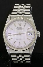 Rolex Oysterquartz Datejust 78274 Y serial midsize watch with reeded dial