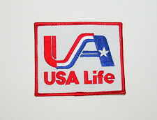 2 Vintage USA Life Insurance Company Cloth Patch New NOS 1970s