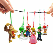Christmas Tree Decoration 6x Super Mario Bros Luigi Yoshi DK Action Figures