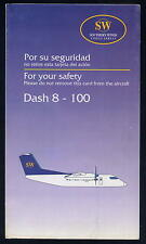 SOUTHERN WINDS airline brochure SAFETY CARD Dash 8 aerolineas argentina sc674 ax
