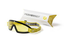 Peeksteep skydiving motorcycle goggles (yellow/yellow strap)
