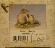 Charming Tails - A Little Bird Told Me - 89/720 - Fitz and Floyd - Free Shipping
