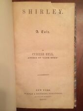 RARE 1850 Currer Bell CHARLOTTE BRONTE, Shirley, 1st US ed. Author of Jane Eyre