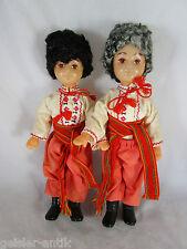 2x Trachtenpuppe Rumänien Siebenbürgen Puppe 24 cm Konvolut