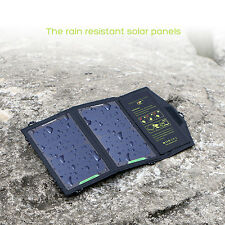 Waterproof Foldable 5V10W Solar Panel Charger Pack For iPhone Tablets Cell Phone