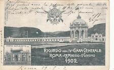 C1243) ROMA 1902, RICORDO DELLA IV GARA GENERALE DI TIRO A SEGNO. VIAGGIATA.