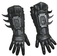 BATMAN Deluxe Adult Size Gloves Dark Knight Arkham Gauntlets Costume Accessory