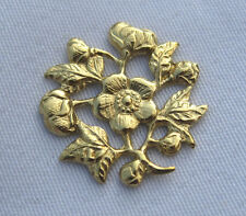 15mm Flower Decorations Filigree Raw Brass Jewelry Findings bf036 (20pcs)