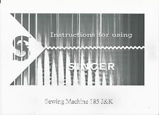Singer Sewing Machine Manual (photocopy) Model 185 J & K, sent via email only