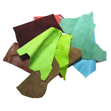 MS 2LB variety of colors genuine leather cut pieces & scraps Crafts decorations