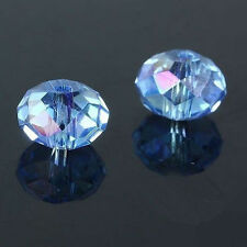 300pcs light blue ab exquisite Glass Crystal 3*4mm #5040 loose beads .@