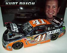 Kurt Busch 2014 State Water Heaters #41 Color Chrome Signed Autograph Chevy 1/24