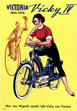 Victoria Motorbikes French 1950s Poster 11 x 17 Giclee Print