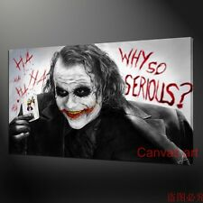 NOT FRAMED (12x18inch) Canvas Picture Print of The Joker Batman ' Movie Film