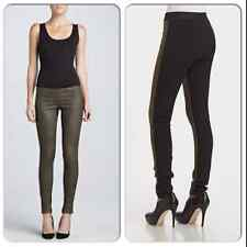 NWT $645 THEORY CULLEN SUEDE LEATHER FRONT LEGGINGS 00