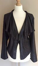PER UNA SILVER GREY SEQUIN JACKET SIZE 14 WATERFALL MARKS AND SPENCER
