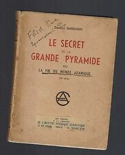 LE SECRET DE LA GRANDE PYRAMIDE GEORGES BARBARIN 1955