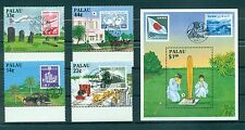 TRASPORTI - TRANSPORTS PALAU 1987 Stamp on Stamp Links to Japan