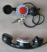 OLD ROTARY DIAL HANDSET TELEPHONE TESLA