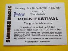 ^°^ Alte Eintrittskarte ROCK FESTIVAL 1974 Dortmund ELO, Heavy Metal Kids Ticket