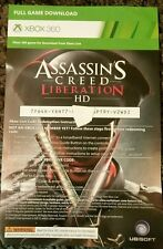 Xbox 360 Assassins Creed Liberation HD Full Game Download Voucher Card Only rare