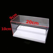 20x9x10cm Clear Acrylic Display Show Box Case Dustproof 2 Steps Protection White