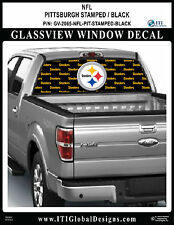 PITTSBURGH STEELERS - STAMPED BLACK by ITIGD / Truck SUV Window Decal Wrap NFL