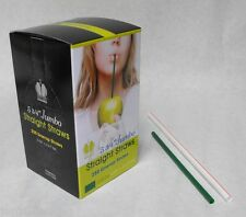 "250 piece 5.75"" GREEN Plastic Jumbo Size DRINKING STRAWS Milk Juice Tea Soda"
