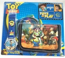 NEW Childrens Kids Toy Story Wallet & Watch Gift Set Buzz Lightyear Woody Cowboy