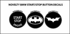 Novelty BMW Stop Start Engine BUTTON DECAL REPAIR SET 3 Button Decals