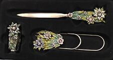 Olivia & Gracie Genuine Czech Crystal Letter Opener Staple Remover Clip Gift Set