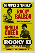 """1979 ROCKY II -  MOVIE POSTER 12"""" x 18"""" -SYLVESTER STALLONE - CARL WEATHERS"""