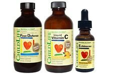 Childlife 3 Pack Immune Support, First Defense, Vitamin C, Echinacea