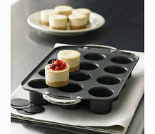 12 Cups Nonstick Deluxe Mini Cheese cake Pan Round Shape Loaf Muffin Pan